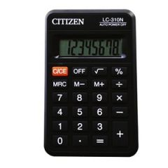 Kalkulaator Citizen LC-310N tasku, must /20