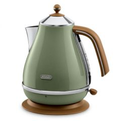 DELONGHI Icona Vintage Kettle KBOV 2001.GR, 1,7L, 2000W, Stainless steel, Green/Brown
