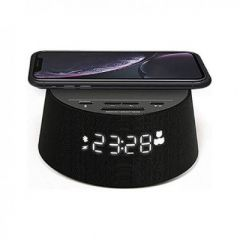Philips Alarm Clock TAPR702/12, Wireless phone charger, Dual alarm function, USB port