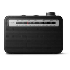 Philips portable radio TAR2506/12, Analog FM/MW radio, AC or battery operated (2x D batteries)